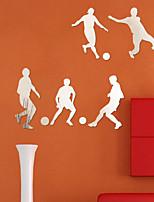 Football Player DIY Mirror Acrylic Wall Stickers Wall Decals
