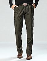 Men's Long Slim Velvet Chinos , Multi-pocket Casual / Sport / Plus Sizes Pure Cotton