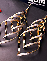 Spiral Multilayer Drop Earrings
