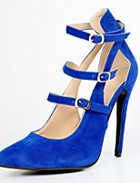 Women's Shoes Fleece Stiletto Heel Heels / Pointed Toe Heels Party & Evening / Dress / Casual Blue