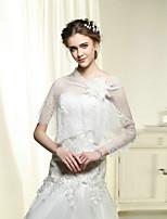Wedding / Party Wraps Bride Elegant Shawls Sleeveless Cotton / Lace White