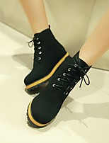 Women's Shoes Leatherette Chunky Heel Combat Boots Boots Outdoor / Office & Career / Casual Black / Beige / Orange