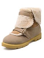 Zapatos de mujer - Tacón Plano - Botas de Nieve - Botas - Casual - Semicuero - Negro / Rojo / Beige