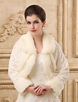 Long Sleeves Wedding Wraps Imitation Cashmere Capelets/Wraps/Coat