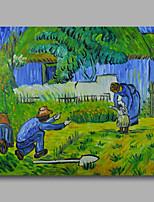 prêt à accrocher étiré toile de peinture à l'huile peinte à la main van gogh abstraite première étape repro un panneau