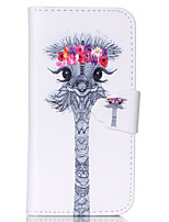 For iPhone 6 Case / iPhone 6 Plus Case Wallet / Card Holder / with Stand / Flip / Pattern Case Full Body Case Animal Hard PU Leather