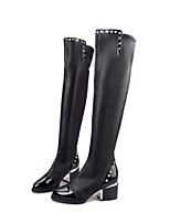 Women's Shoes Chunky Heel Fashion Boots / Comfort / Combat Boots Boots Dress / Casual Black
