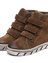 Scarpe Donna - Sneakers alla moda - Tempo libero / Casual / Sportivo - Zeppe - Zeppa - Di pelle / Pizzo - Nero / Marrone