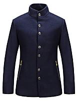 The New England Men's suit fashion long-sleeved jacket leisure coat overcoat woolen cloth HXTX-6838