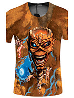 CliffWalker Men's 3D fashion personality digital printing short sleeve T-shirt