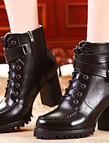 Chaussures Femme - Bureau & Travail / Décontracté / Soirée & Evénement - Noir / Marron - Gros Talon -Bottes d'Equitation / Bottes à la
