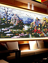 Latest Lakeside Cottage Bedroom Living Room Wall Picture Stitch Full Diamond Drill Full Cover