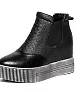 Women's Shoes  Flat Heel Round Toe Boots Casual Black / Silver