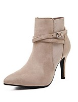 Women's Shoes Stiletto Heel Fashion Boots / Closed Toe Boots Party & Evening / Dress / Casual Beige