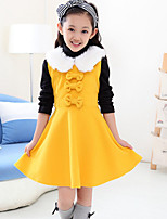 Girl's Red / Yellow Dress , Bow Polyester Winter / Spring / Fall