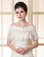 Sleeveless Lace Wedding / Party/Evening / Casual Capelets Wedding  Wraps / Shawls