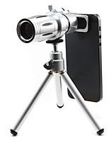 nuovo obiettivo 12 × telefono per smartphone con la clip&supporto universale&mini treppiede&set di lenti