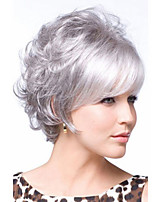 Women Medium  lady Straight Short Synthetic Hair Wigs