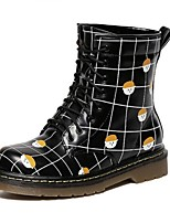Women's Shoes  Platform Combat Boots / Round Toe Boots Outdoor / Casual Black / Gray