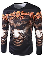 Men's Fashion Domineering Pirates 3D Printed Long-Sleeve T-Shirt