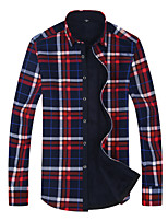 CliffWalker Men's fashion personality High quality lattice thermal long sleeve shirt