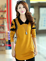 Women's Print Loose Hin Thin  Pullover , Casual / Plus Sizes Long Sleeve