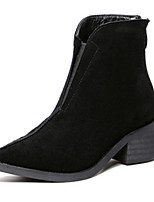 Women's Shoes Chunky Heel Pointed Toe Boots Casual Black / Green
