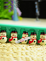 5 in 1 Christmas Snowman Silicone Chocolate Pudding Sugar Ice Cake Mold