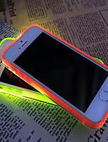 nouvel appel de la visière transparente conduit clignoter cas de couverture de TPU pour l'iphone 6plus / 6s plus (couleurs assorties)