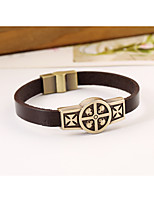 2016 alloy metal punk style leather bracelet men bracelet bracelet retro bracelet(bracelet)