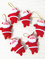 6Pcs 2inch Christmas Tree Hanging Decoration Santa Claus Doll