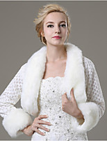 Wedding / Party/Evening / Casual Faux Fur Shrugs Long Sleeve Fur Coats