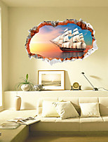 3 Styles 3022 Removable 3D Broken Wall Scenery Wall Sticker home Decor Vinyl Decals Mural Art