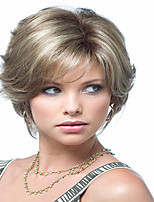 European  Lady Women Short   Syntheic  Wave  Wigs Extensions Beautiful