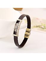 2016 alloy metal punk style leather bracelet men bracelet bracelet retro bracelet(bracelet)