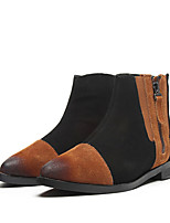 Women's Shoes  Low Heel Pointed Toe Boots Casual Black / Brown