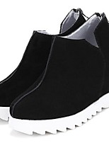 Women's Shoes Wedge Heel Closed Toe Boots Casual Black / Green