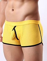 Homens Cueca Boxer Sensual Sólido,Fibra Sintética