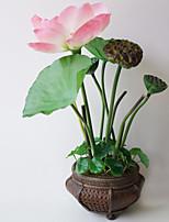 Plastique / Gel de silice / Contact réel Plantes Fleurs artificielles