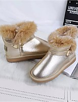Women's Shoes Flat Heel Snow Boots Boots Casual Black / Pink / Silver / Gold