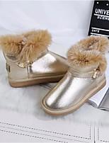 Zapatos de mujer - Tacón Plano - Botas de Nieve - Botas - Casual - Semicuero - Negro / Rosa / Plata / Oro
