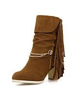 Scarpe Donna - Stivali - Casual - A punta - Quadrato - Finta pelle - Nero / Giallo / Rosso / Beige