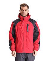 Clothin Men's Resistant Detachable Cap Windbreak & Waterproof Jacket Hiking Jacket Warm Jacket (Red,Army Green)