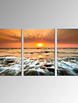 Astratto / Fantasia / Tempo libero / Paesaggio / Moderno / Romantico / Pop art Print Canvas Tre Pannelli Pronto da appendere , Verticale