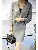 Pullover Da donna Manica lunga Vintage / Sexy Elastene / Nylon / Rayon Spesso