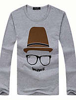 Men's Sleeve Length Tops Type  ,Casual Round Collar  Long Sleeve Fashion Cotton Blend Casual Pure