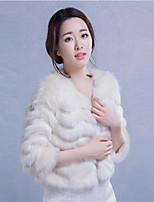3/4-Length Sleeve Wedding / Party/Evening / Casual Imitation Cashmere Coats/Jackets Bridal  Wraps