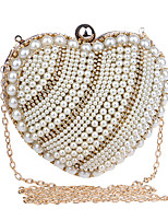 Women Polyester / Metal Minaudiere Clutch / Evening Bag - Gold