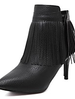 Women's Shoes Leather Stiletto Heel Comfort Pointed Toe Fashion Boots Party and  Dress More Colors Available