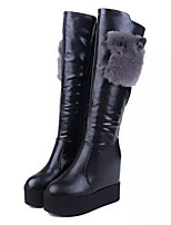 Women's Shoes Wedge Heel Fashion Boots / Round Toe Boots Party & Evening / Dress / Casual Black